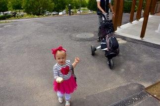 Estelle-Mittagsessen-Golfplatz